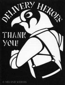 Delivery Heroes Papercut by Melanie Kehoss